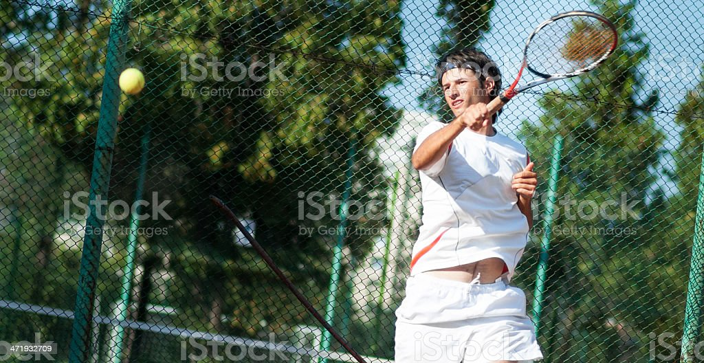placed forehand stock photo