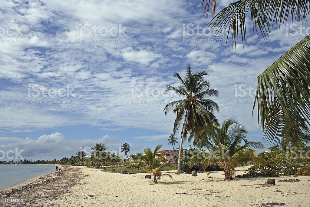Placencia Beach stock photo