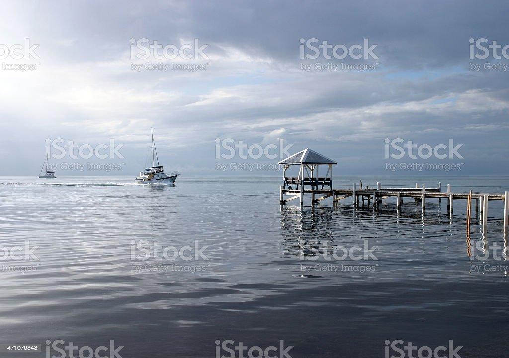 Placencia Pier stock photo