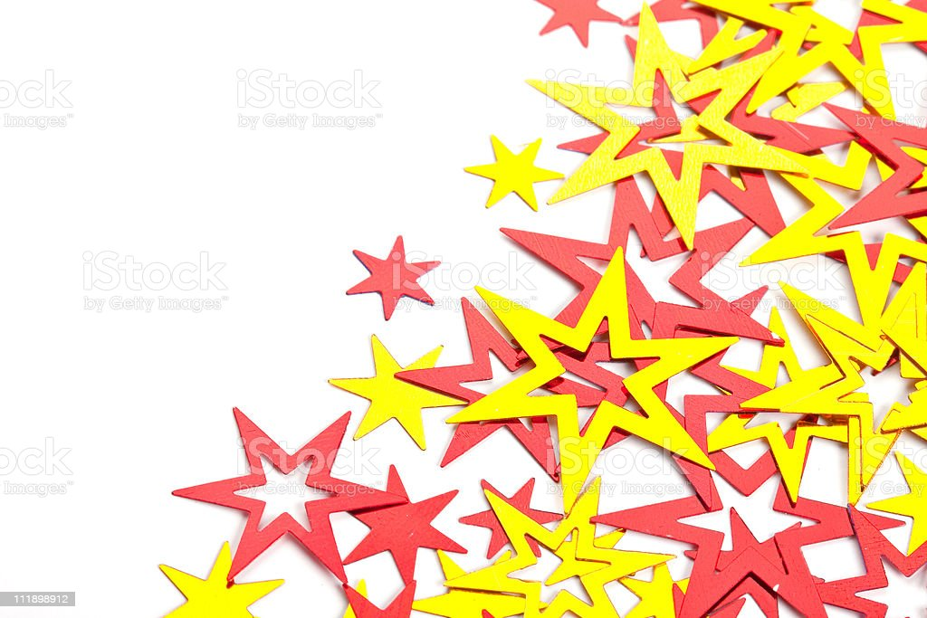 Placer of yellow and red stars royalty-free stock photo