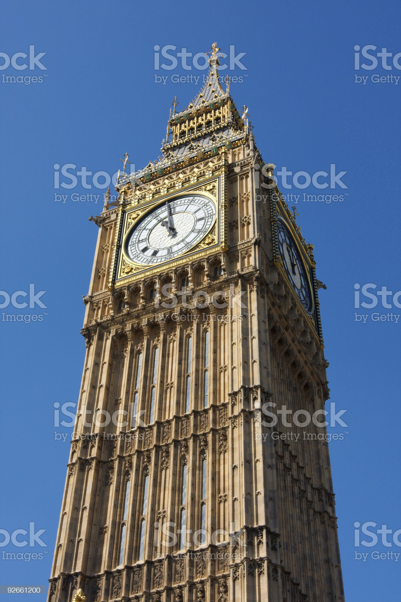 Places - Big Ben Houses of Parliment in London royalty-free stock photo