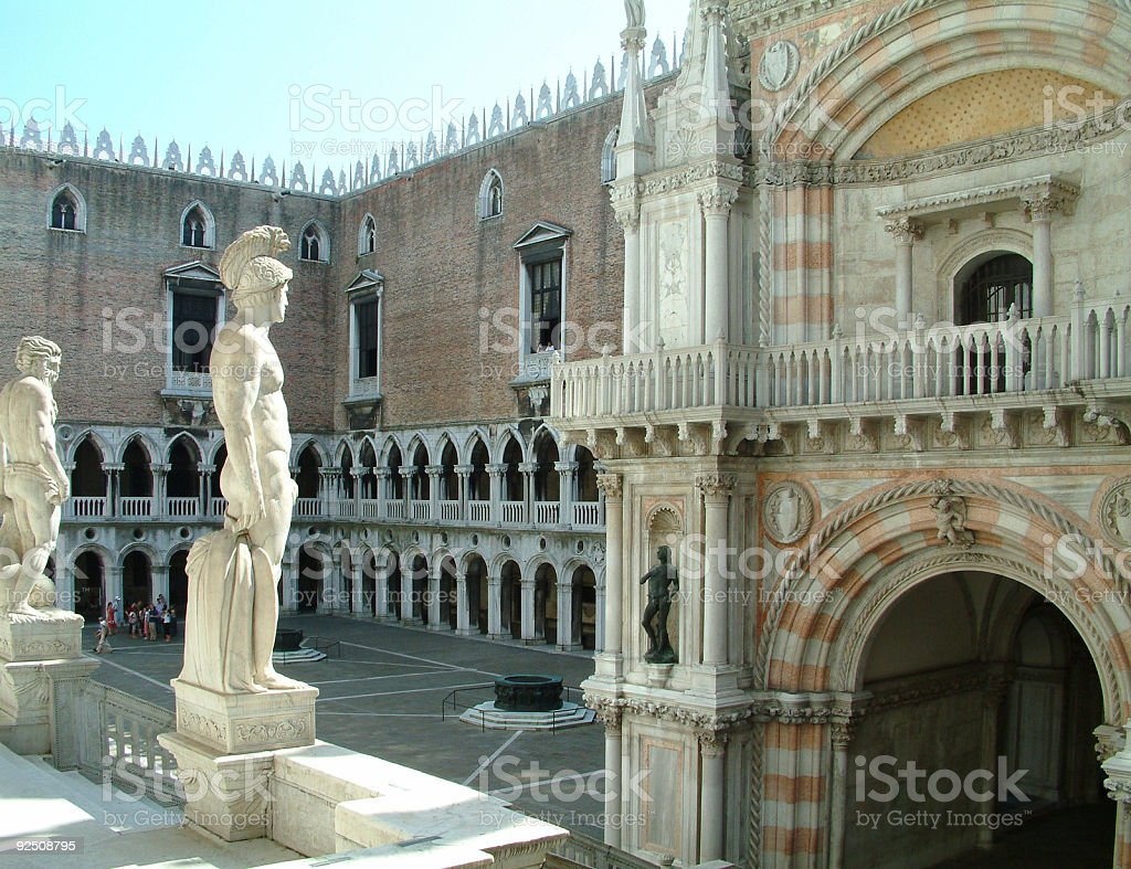 Places - Italy, Venice, Court Of The Doges Palace royalty-free stock photo