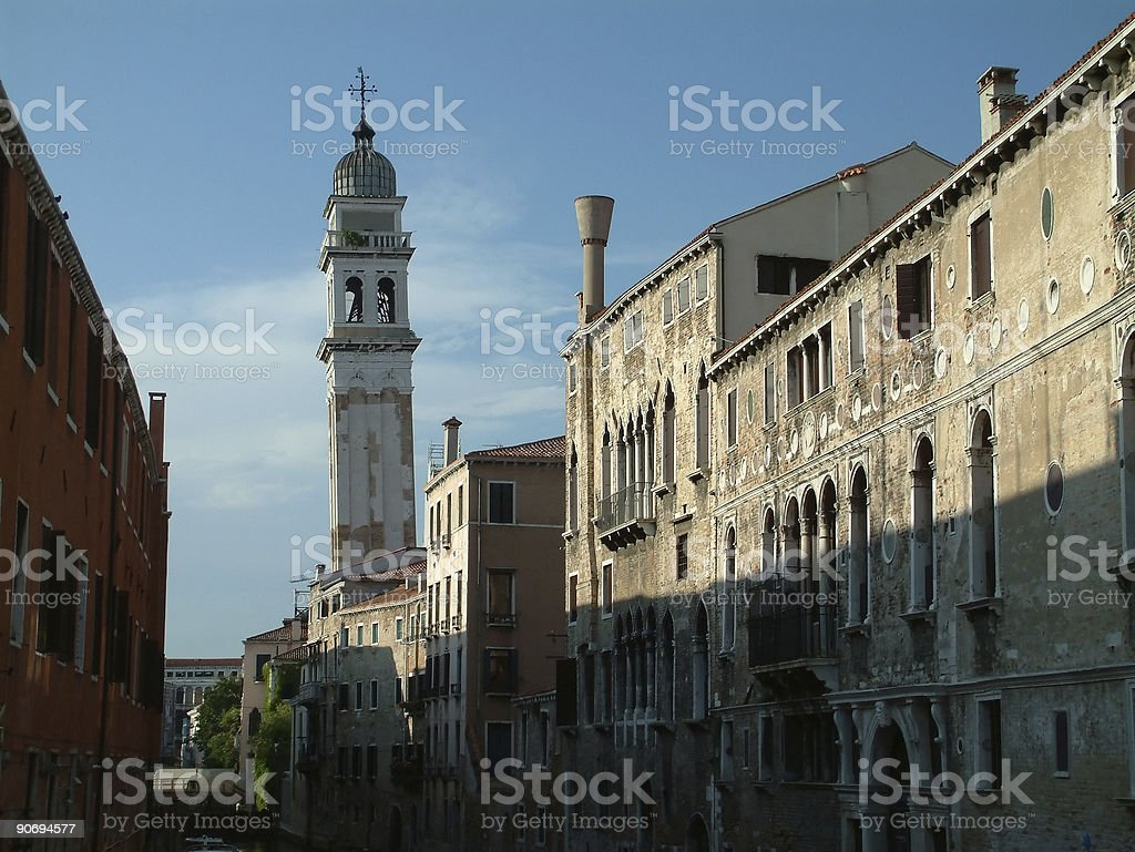 Places - Italy, Venice, The other leaning tower royalty-free stock photo