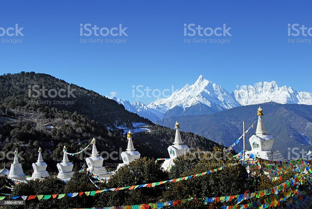 Places of worship,Tibet plateau,China stock photo