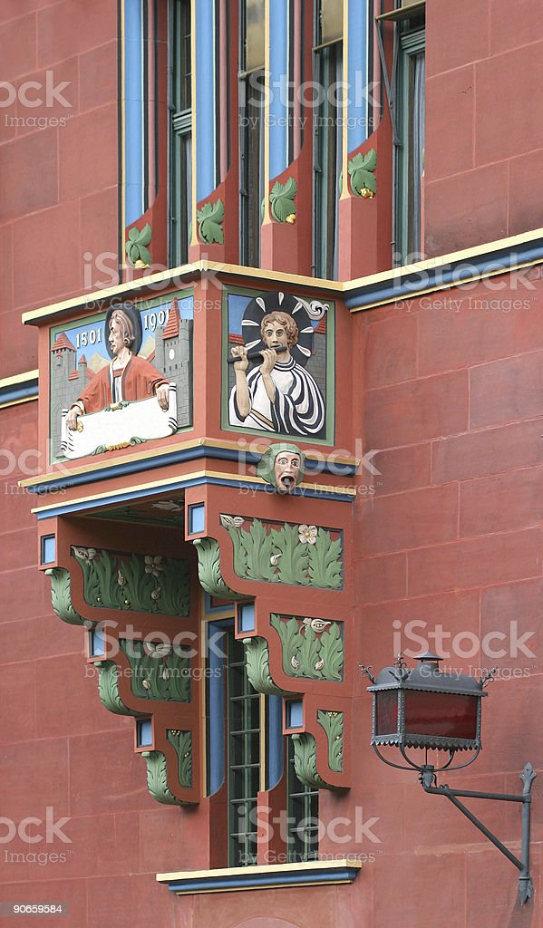 Places - Switzerland, Basel, Facade royalty-free stock photo