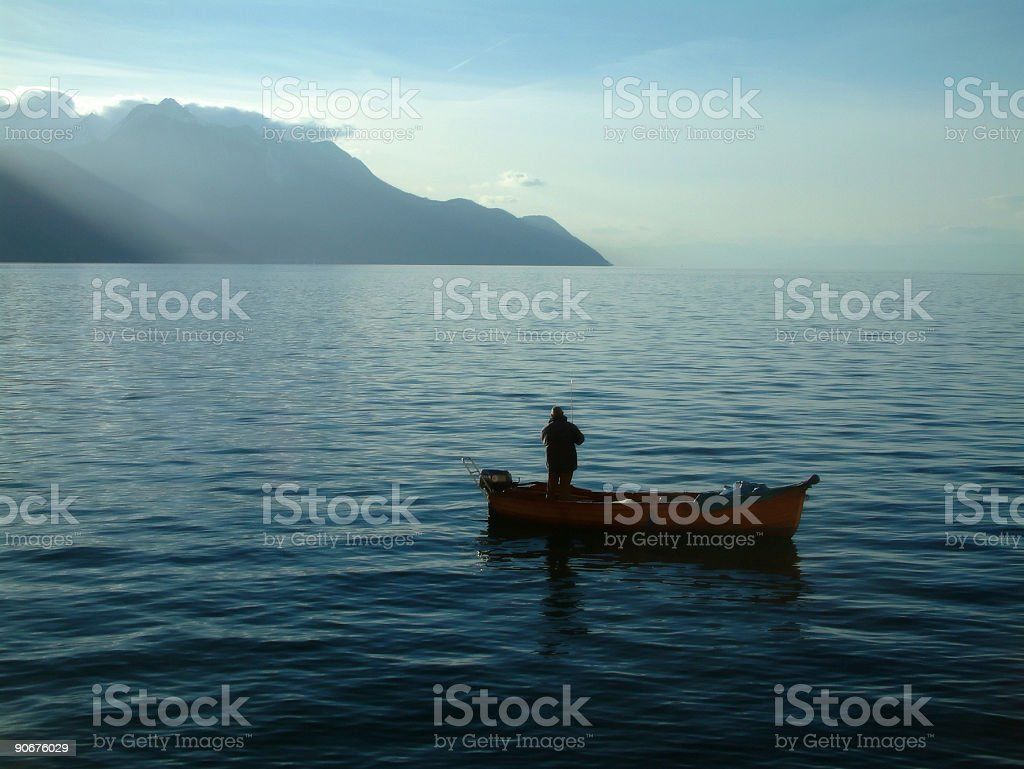 Places - Switzerland, Chillion, Calm Waters royalty-free stock photo