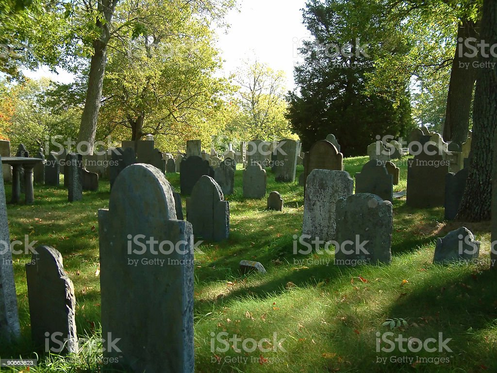 Places - USA, New England, Cemetary #2 royalty-free stock photo