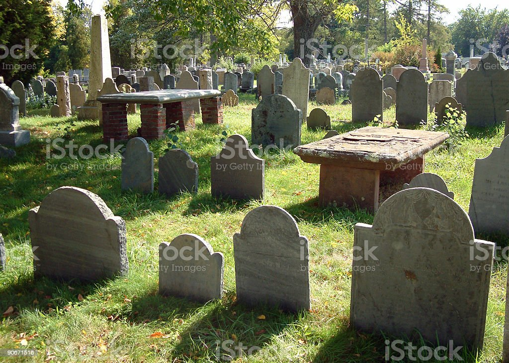 Places - USA, New England, Cemetary #1 royalty-free stock photo