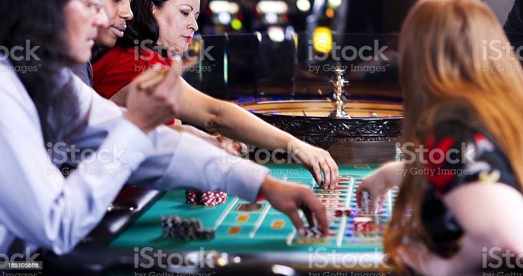 Placing Bets stock photo
