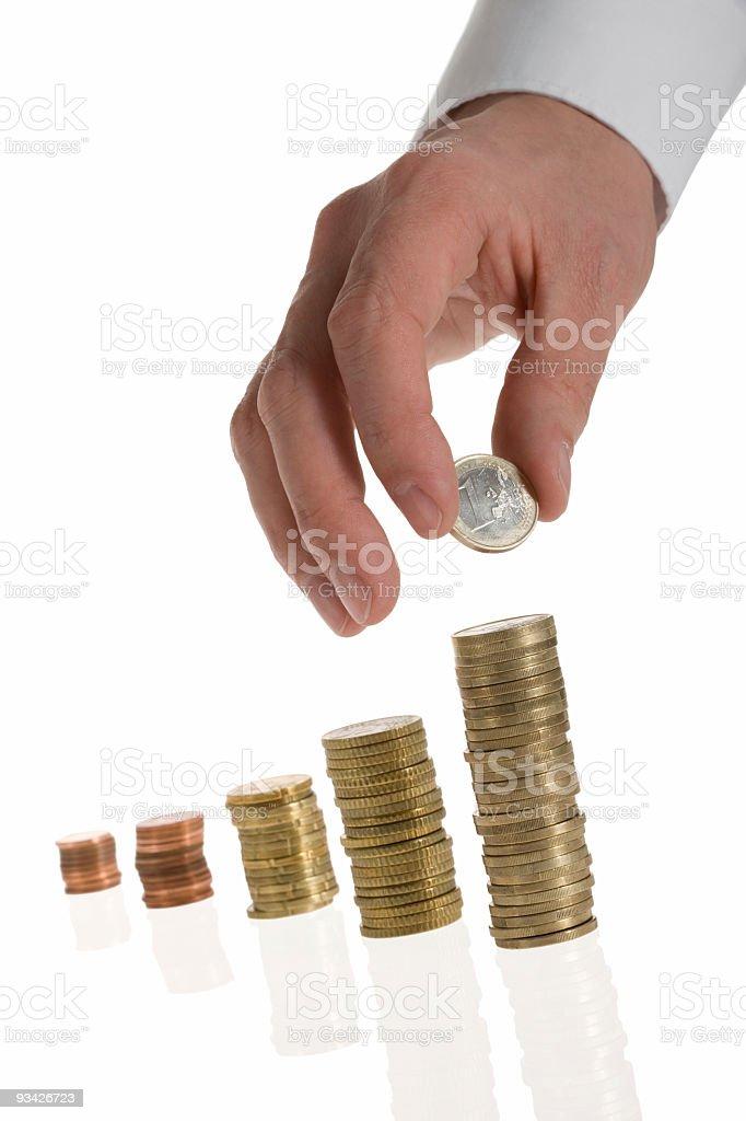 placing money royalty-free stock photo