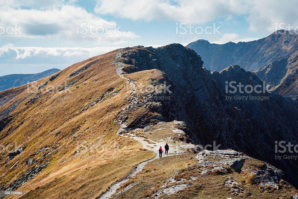 Placlive peak at Tatra mountains stock photo