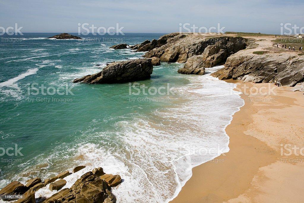 plage bretonne stock photo