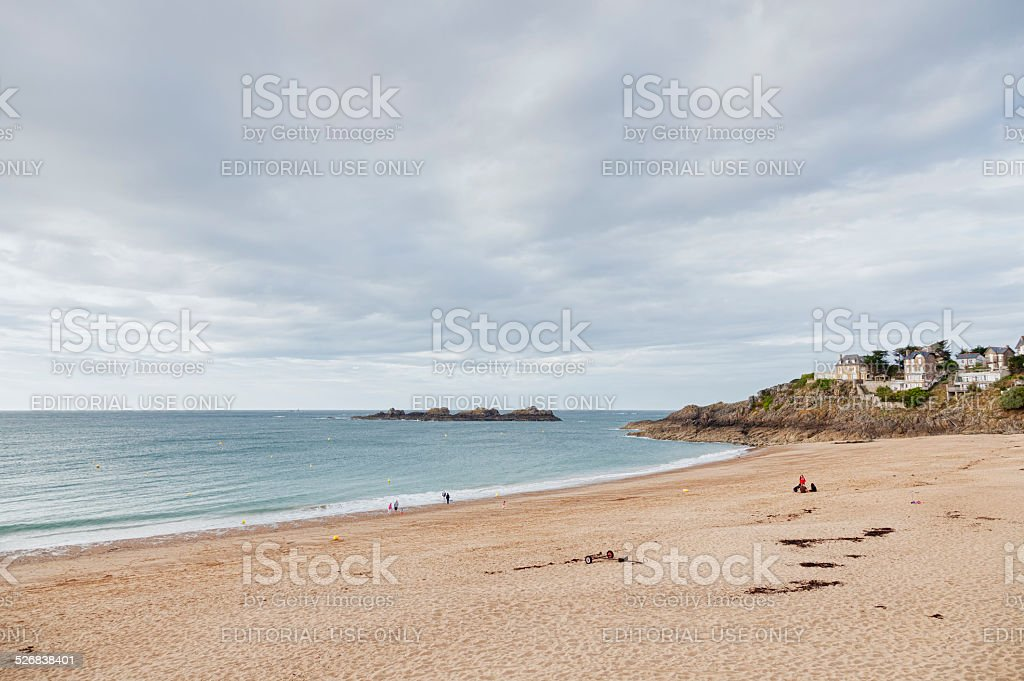 Plage du Val in Saint-Malo, Brittany, France stock photo