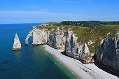 Plage et falaises d'étretat, France