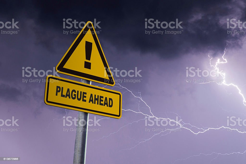Plague ahead stock photo