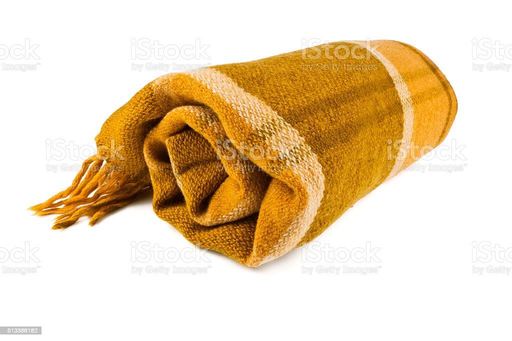 Plaid blanket stock photo