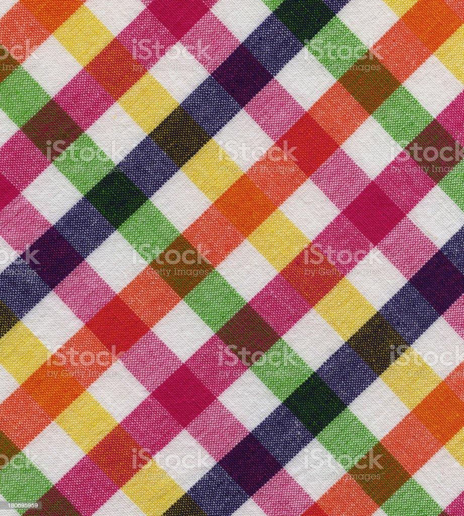plaid cotton fabric stock photo