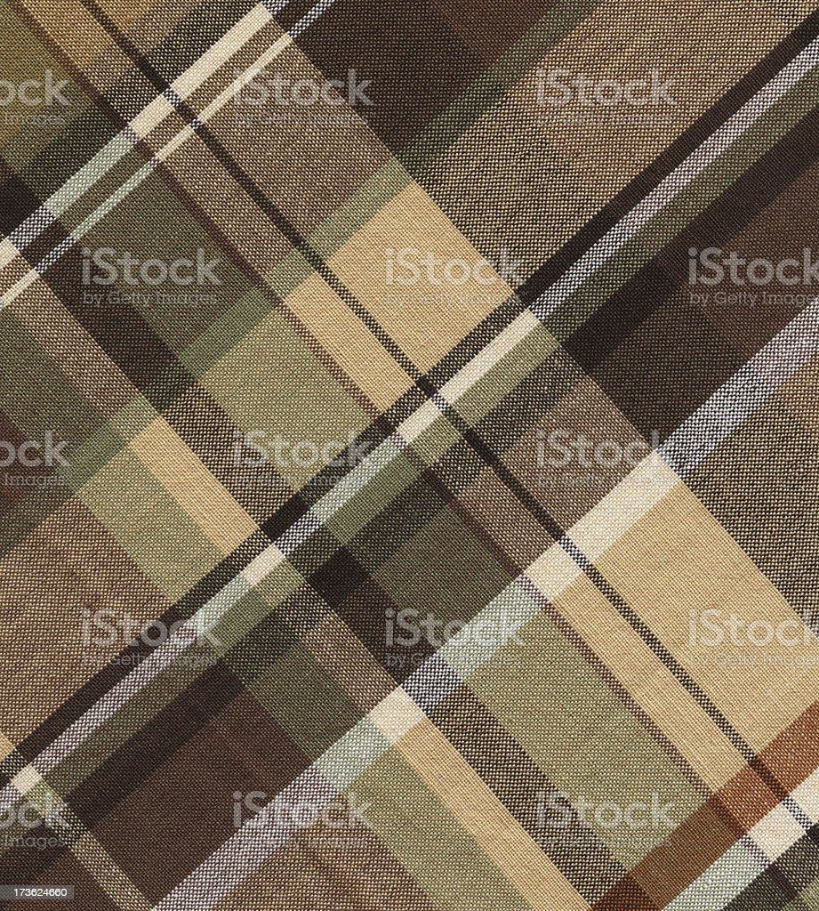 plaid cotton in brown tones royalty-free stock photo