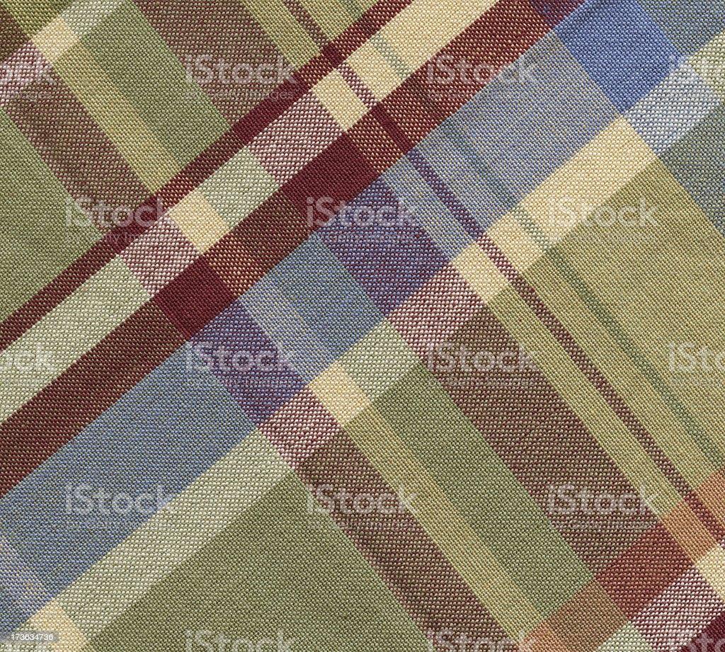 plaid cotton in pastel tones royalty-free stock photo