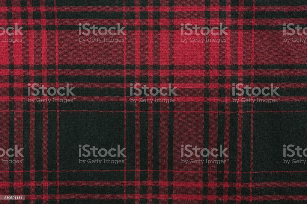 Plaid Fabric stock photo