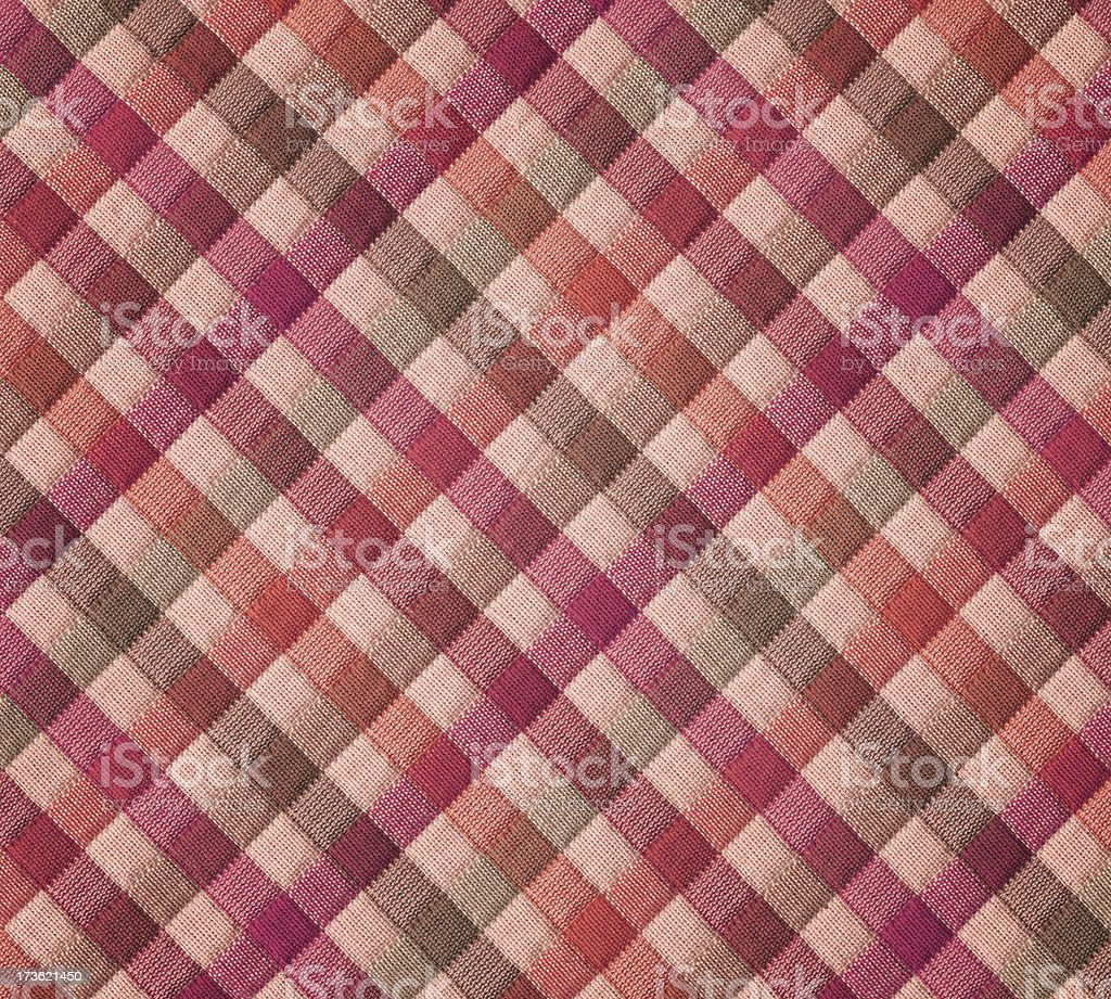 plaid fabric with warm tone pastels royalty-free stock photo