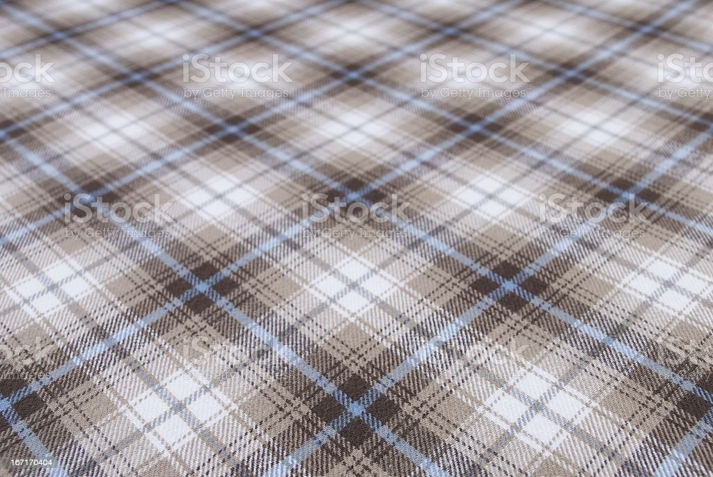 Plaid Flannel Cloth with Shallow Depth of Field royalty-free stock photo