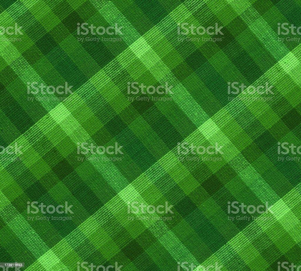 plaid green fabric stock photo