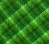 plaid green fabric