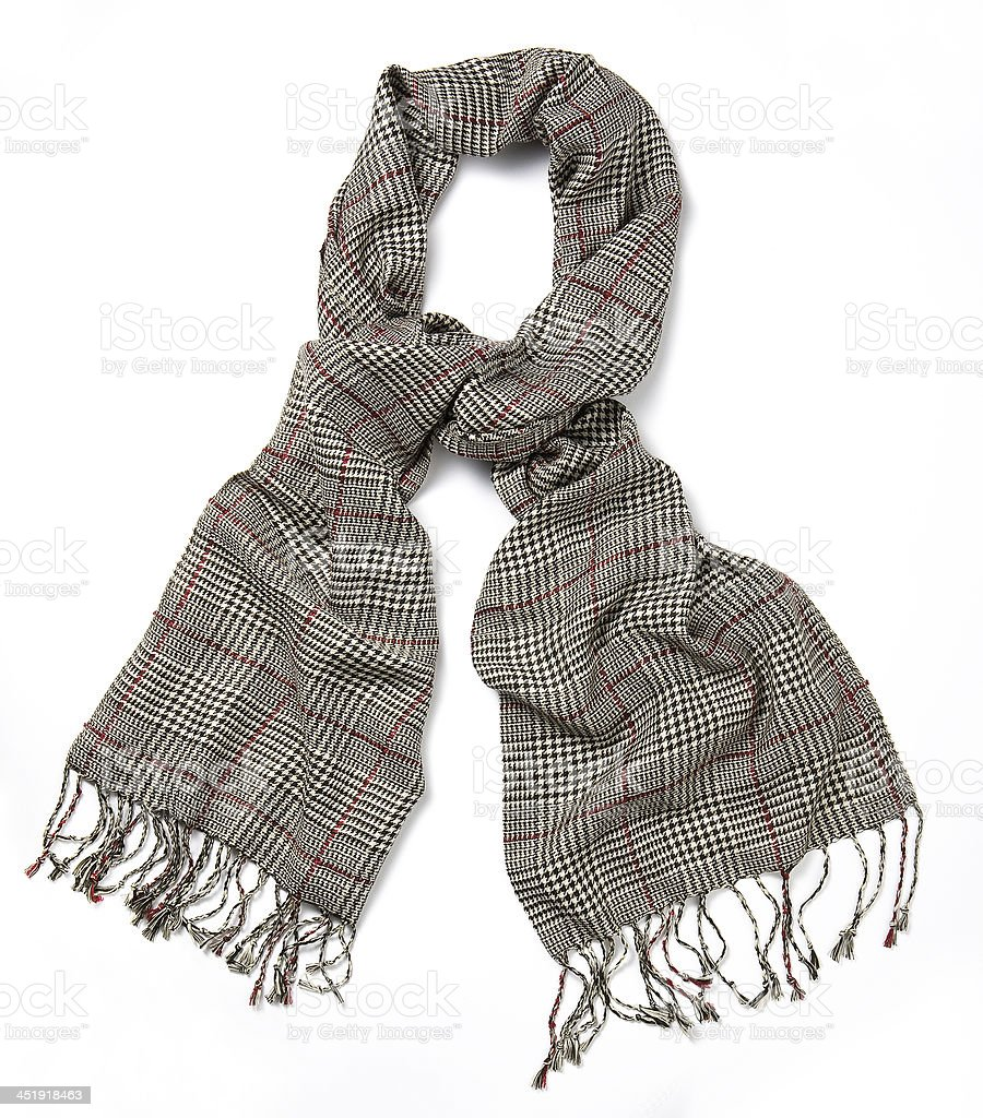plaid scarf royalty-free stock photo