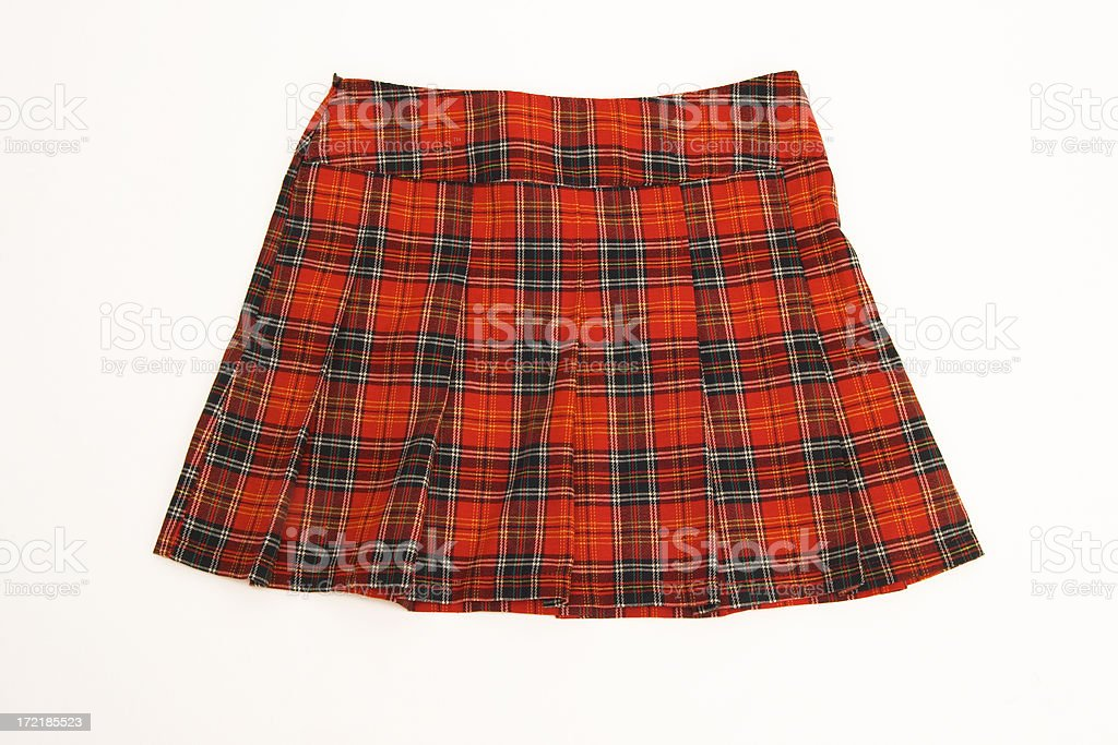 plaid skirt royalty-free stock photo