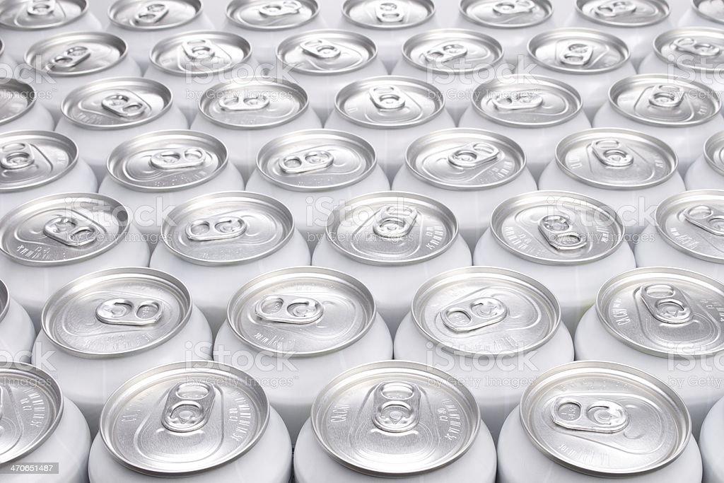 Plain Aluminum Beverage Cans stock photo