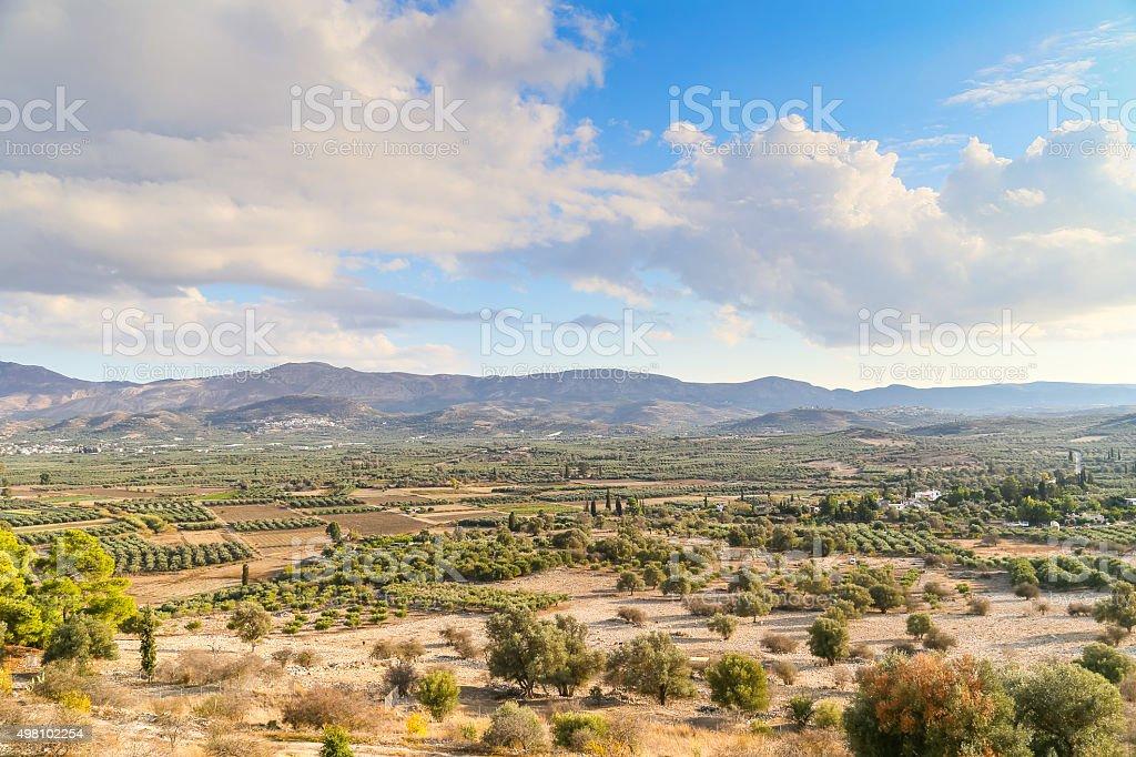 Plain and Mountains stock photo