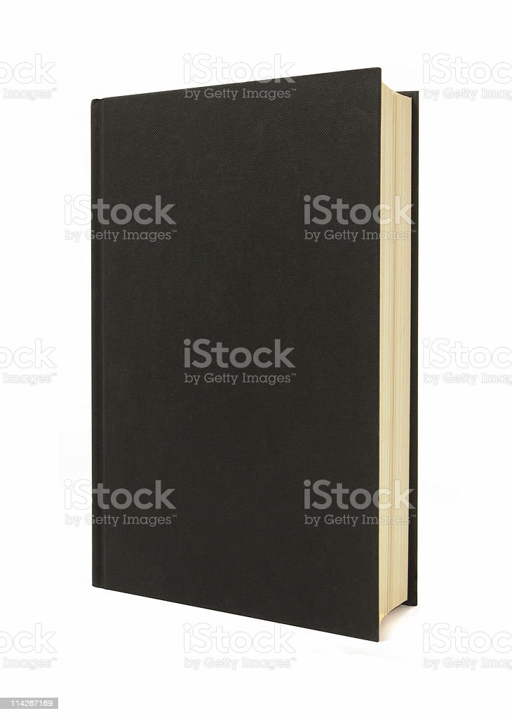 Plain black hardback book stock photo