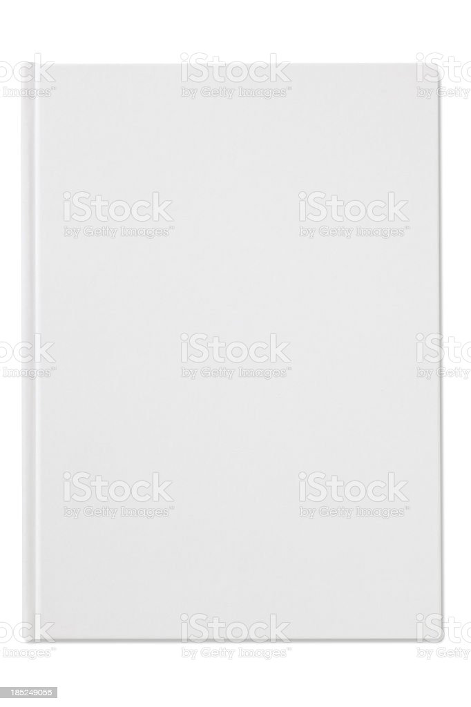 Plain blank white notebook isolated on a white background stock photo