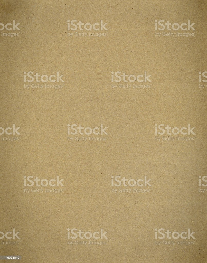 A plain brown piece of cardboard paper royalty-free stock photo