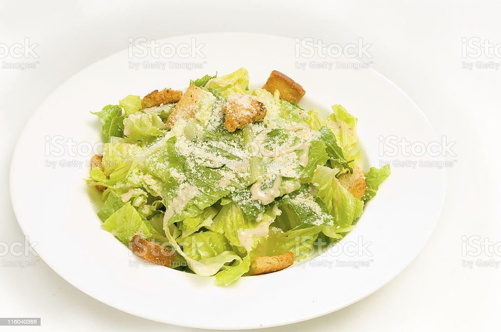 Plain Caesar Salad stock photo