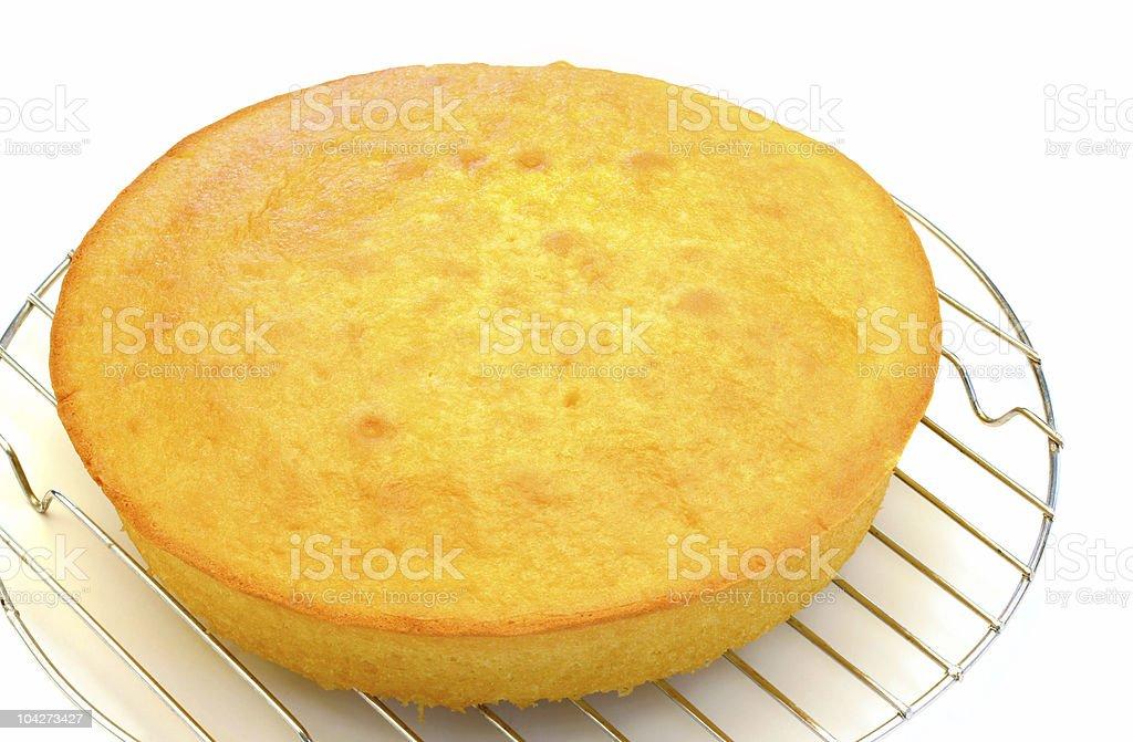 Plain Cake Isolated on White stock photo