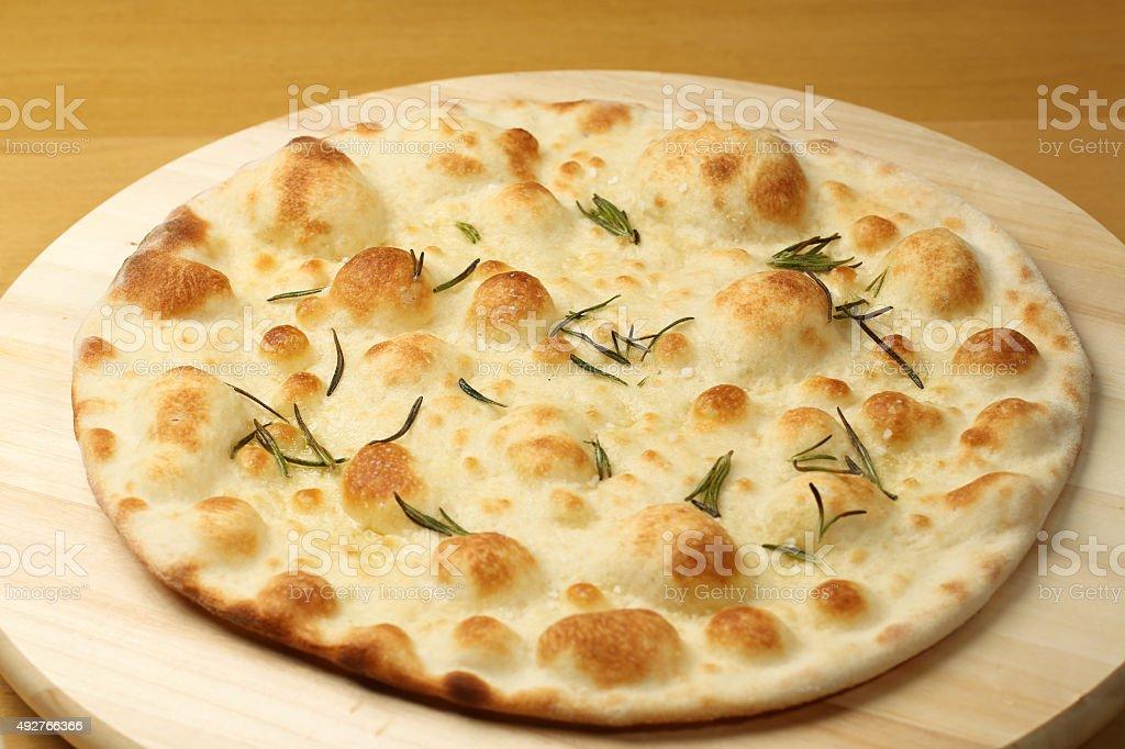 Plain cauliflower pizza crust on stock photo
