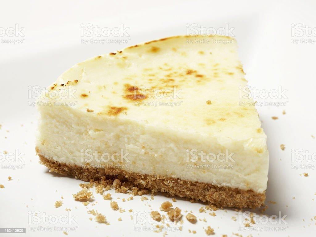Plain Cheesecake stock photo