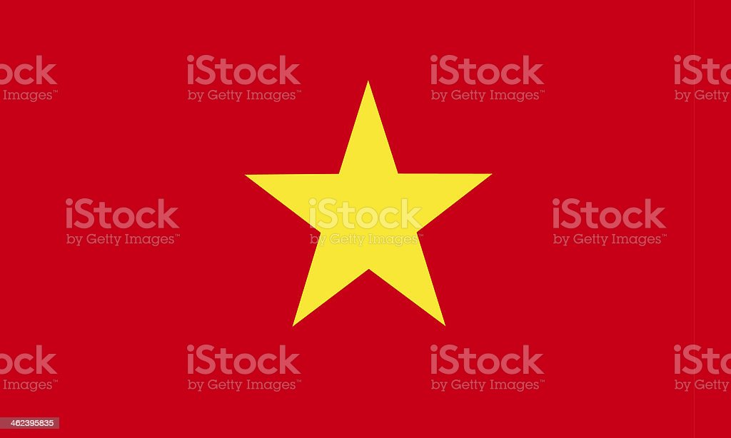 Plain colored print of the Vietnam flag stock photo