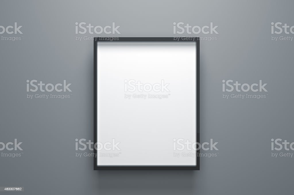 Plain Empty Picture Frame stock photo
