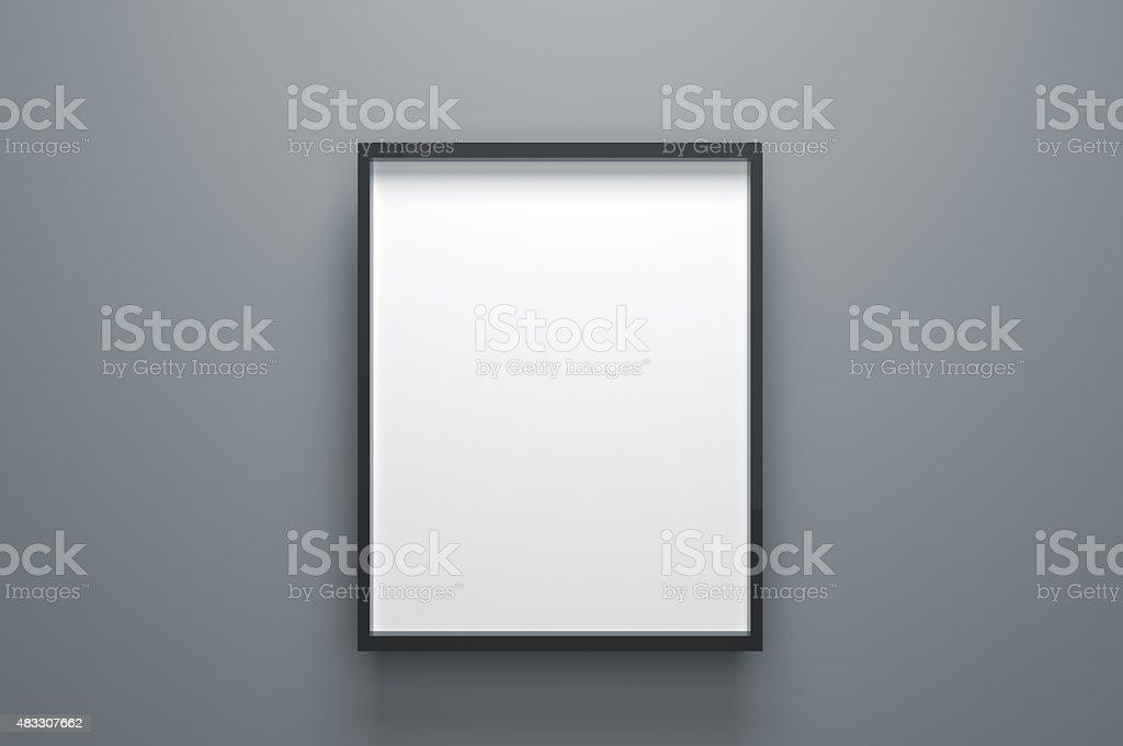 Plain Empty Picture Frame stock photo