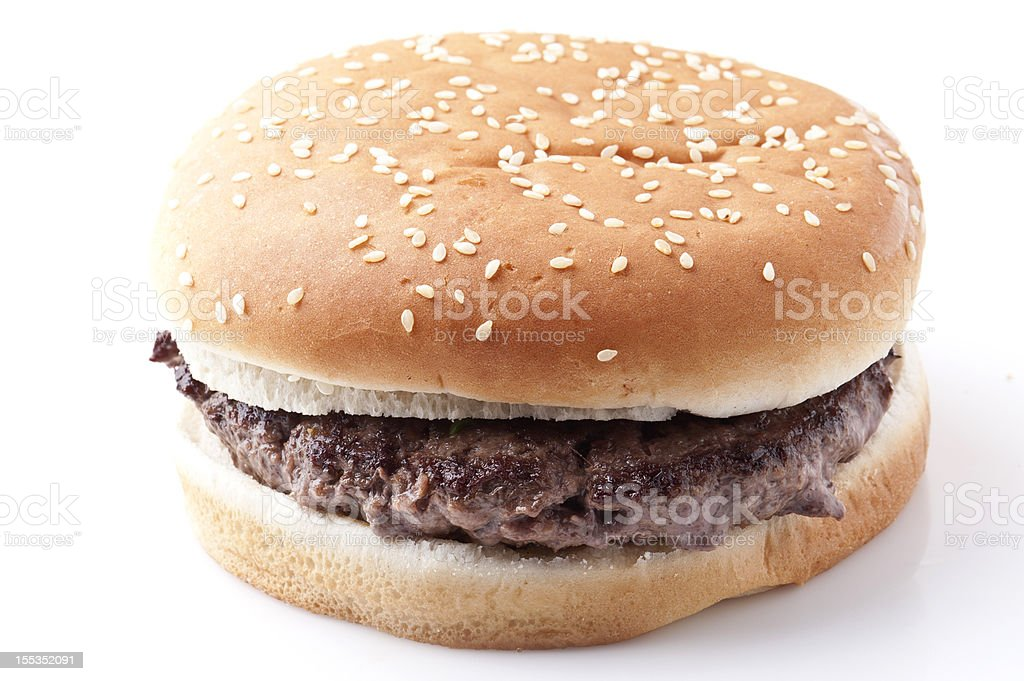 plain hamburger royalty-free stock photo