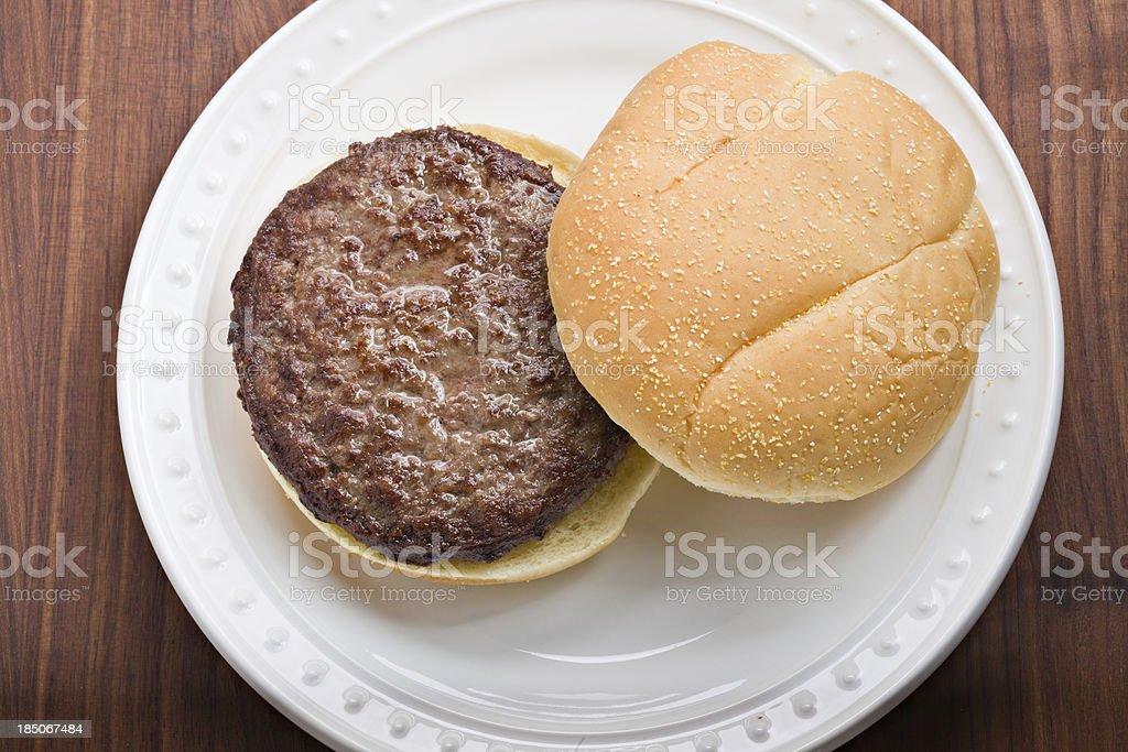 Plain Hamburger stock photo