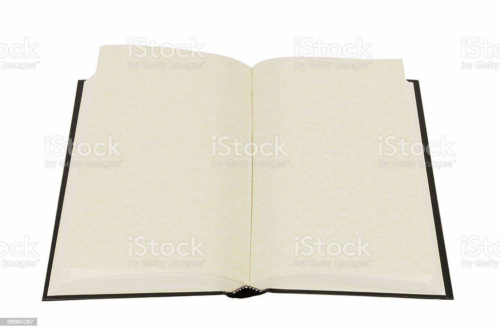 Plain hardback book royalty-free stock photo
