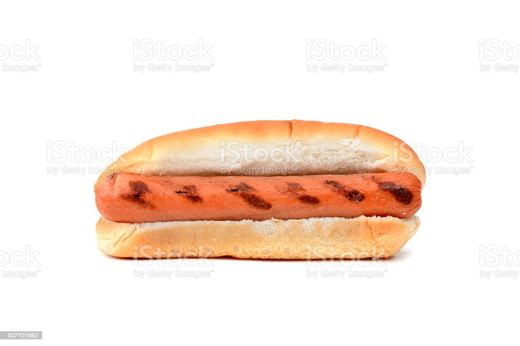 Plain Hot Dog stock photo