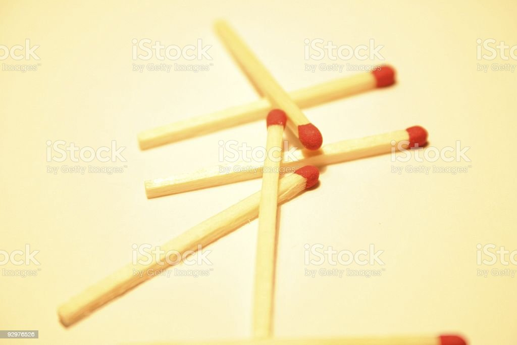 Plain match sticks royalty-free stock photo
