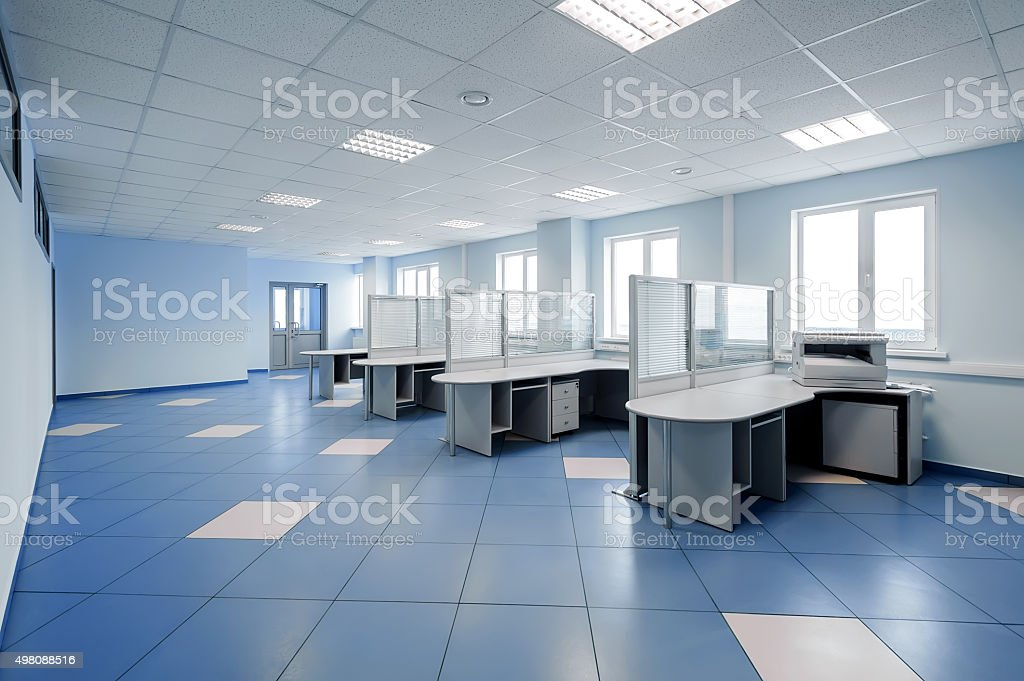 plain office space interior stock photo