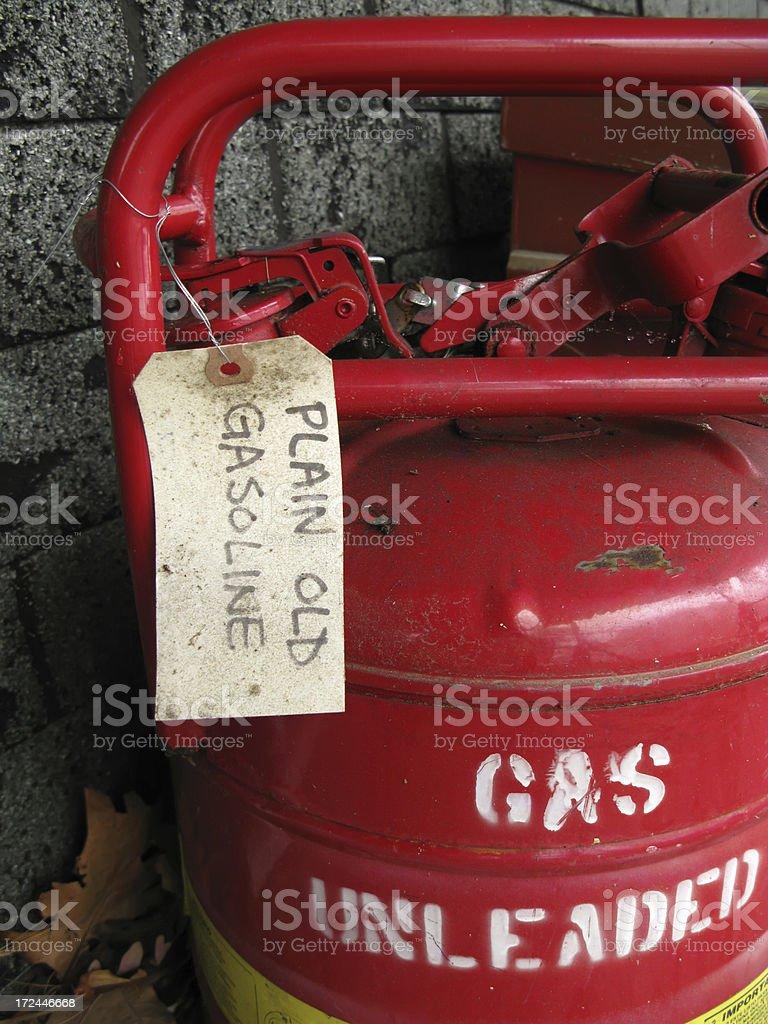 Plain Old Gasoline stock photo