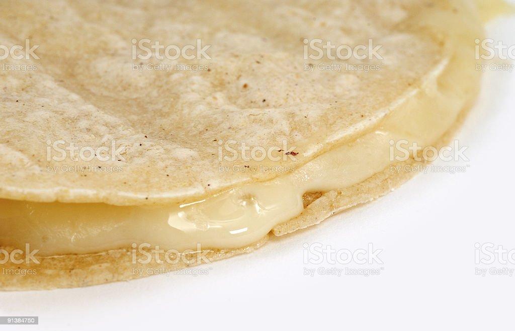 Plain quesadilla stock photo